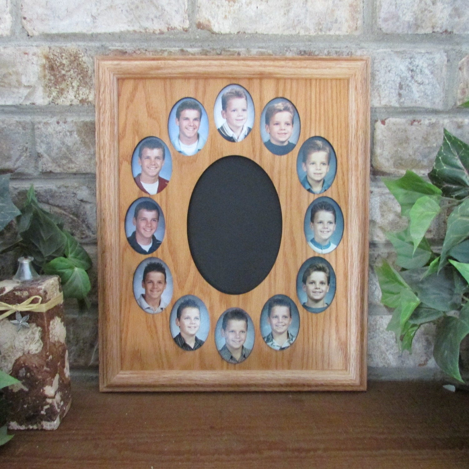 school years collage picture frame k 12 graduation oval 11x14. Black Bedroom Furniture Sets. Home Design Ideas