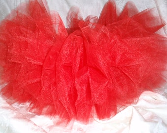 Red tulle tutu skirt Full and fluffy Perfect for parties, photo shoots, cake smash or holidays!