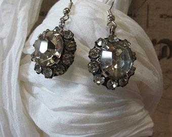 Repurposed Vintage Rhinestone Earrings