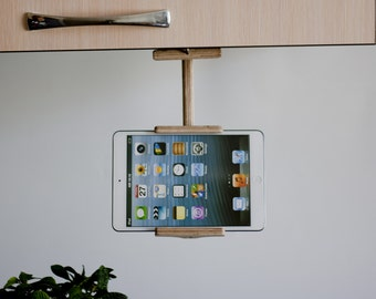 Storage & Organization, Back-to-school, Gift, Kitchen tablet holder, wood book stand,Tech gift, ipad stand, kitchen tablet stand,