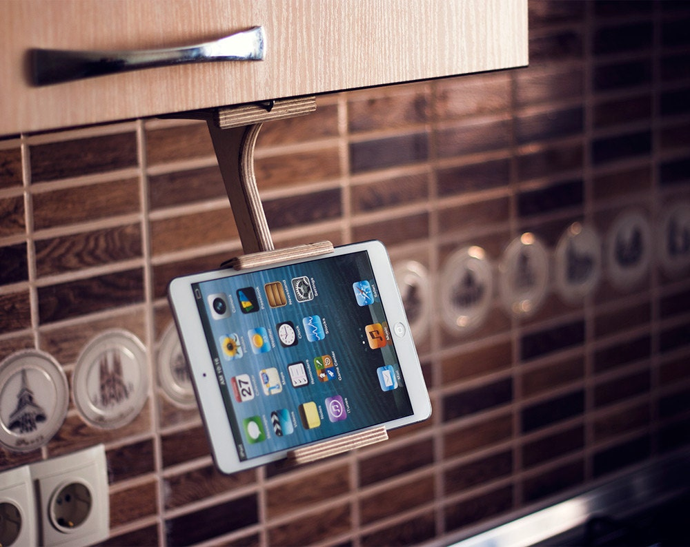 Wood tablet stand Trending Items unique gifts Ideas kitchen