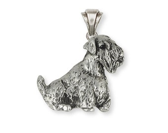 Sterling Silver Sealyham Terrier Dog Pendant Jewelry  SEM1-P