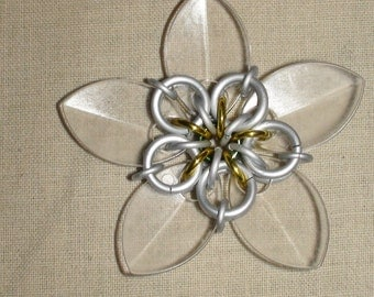 Scale Flower Ornament Chainmaille