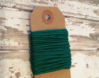 10 Yards of Solid Green Baker's Twine