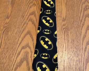 Batman logo men's tie