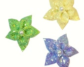 10% off with the code BDAY10  Pin Up Glitter Flower Fascinator 24 colours