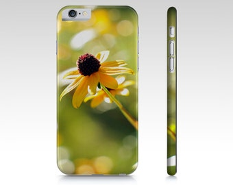 Yellow Floral Plastic Cell Phone Case, iPhone Cover, iPhone 6 & 6 Plus, iPhone 5 and 4 Case, Samsung Galaxy S5 S4 S3 Flower Cell Phone Case