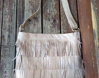 Genuine Leather Fringe Bag, Boho, gypsy, festival, leather fringe purse