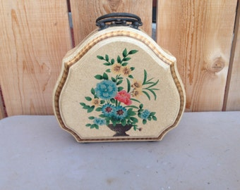 Wooden hand painted purse/Home Decor
