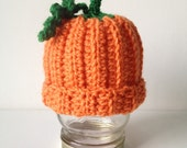 Ready to Ship - Crochet Pumpkin Hat