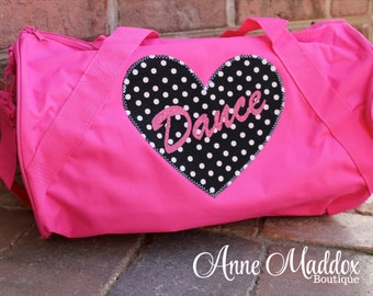 Personalized Girls Dance Bag with Glitter Dance or Glitter Name / Dance Bag / Dance Recital Gift