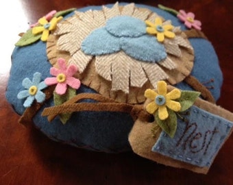 Pin Cushion with Needle Book