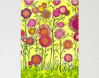 CARDS - blank, set of 3 - Martha's Garden