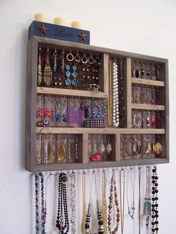 Jewelry Organizer Gray Display Case