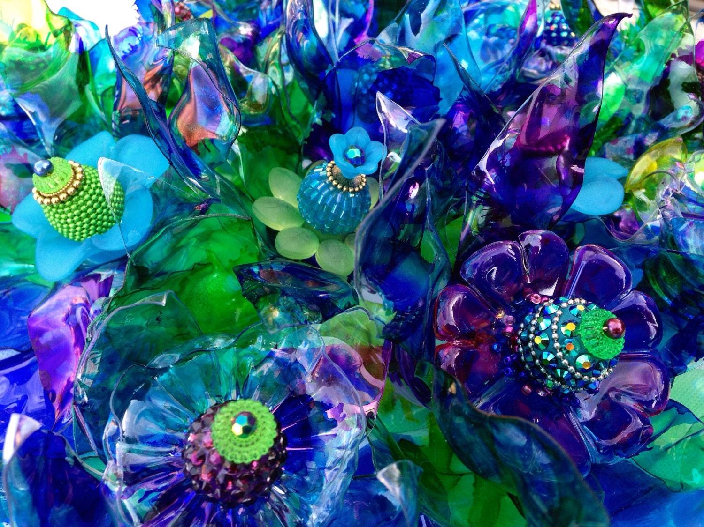 peacock wedding earth day blue garden art yard decor 3