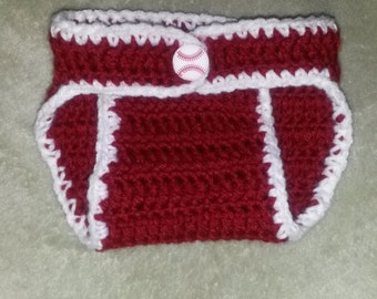 Baseball Baby Diaper Cover