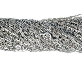 18 Inch Sterling Silver Box Chain_50 PCS