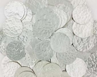 5/8 Inch 22 Gauge Sterling Silver Disc - HAMMERED_1 - 25 PCS