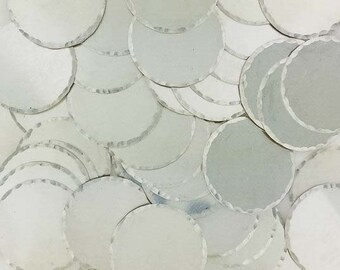 1 Inch 22 Gauge Sterling Silver Disc - HAMMERED EDGE_50 - 100 PCS