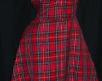 1940's highland fling tea dress MADE TO MEASURE in 6 available colours Christmas Dress!