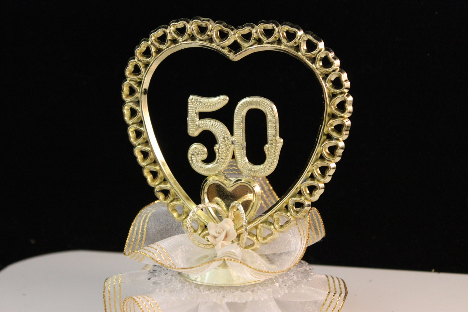 50th wedding anniversary cake topper golden anniversary cake - Th anniversary cake decorations ...