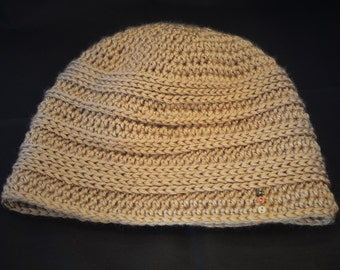 Male Ribbed Crochet Hat - Multiple Sizes Available