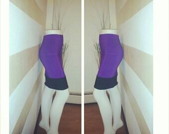 Purple and black pencil skirt