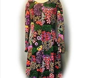 Vintage Dress, 60's Mod Dress, Psychedelic Dress, Vintage Clothing, Women's Dress, Boho, Bohemian, Hippy Dress, Festival, 1960's Psychedelic