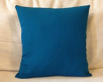 Dark blue green teal cushion - Handmade - 30x30cm