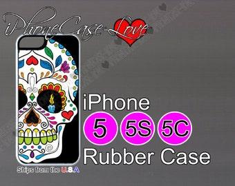 iphone 5 case - iphone 5s case - iphone 5c case -  sugar skull iphone 5 case - sugar skull iphone 5s case  - sugar skull iphone 5c case - S8