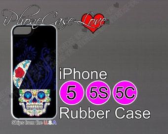 iphone 5 case - iphone 5s case - iphone 5c case -  sugarskull iphone 5 case - sugar skull iphone 5s case  - sugar skull iphone 5c case - S11