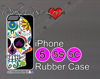 iphone 5 case - iphone 5s case - iphone 5c case -  sugar skull iphone 5 case - sugar skull iphone 5s case  - sugar skull iphone 5c case - S7