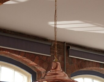 """16"""" solid copper pendant fitting"""