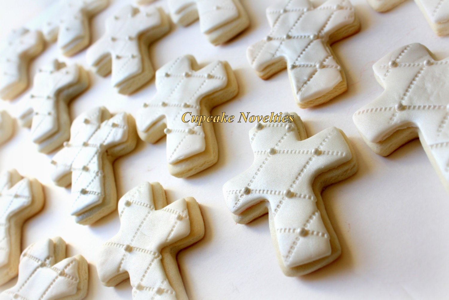 2 Dozen First Holy Communion Baptism Christening Cross Cookies