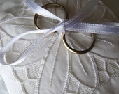 Hand-embroidered Wedding Ring Pillow