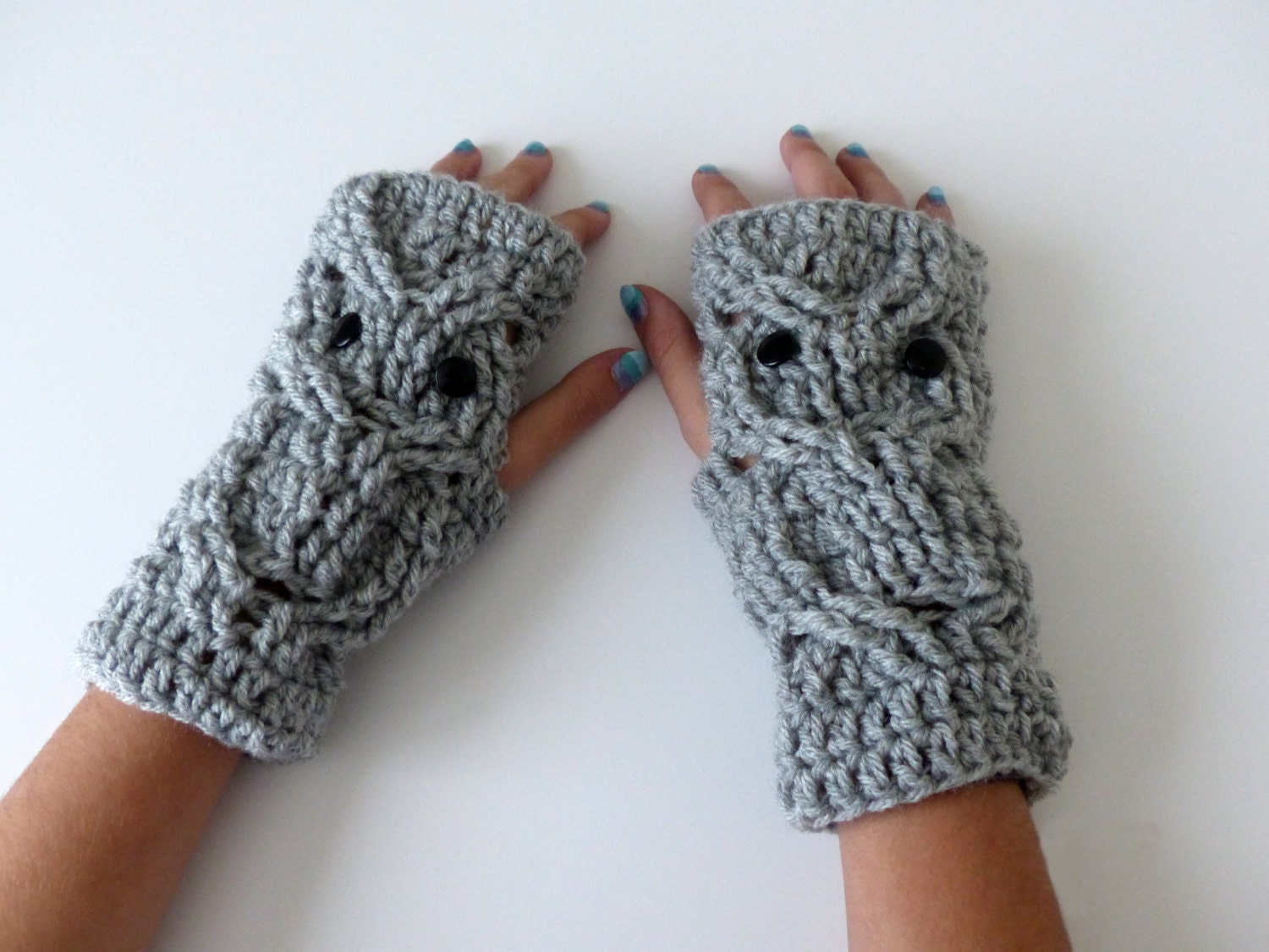 Fingerless Owl Mittens Crochet Owls texting Gloves by ...