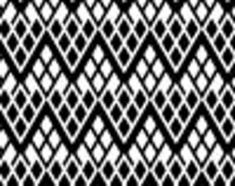 Trellis in  Black and White from Black and Tan by Camelot - 1 yard, One yard increments