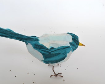 SOLD Recycled Paper Bird Sculpture
