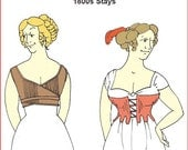 RC834 - Early 1800s Regency Era Stays Sewing Pattern by Reconstructing History