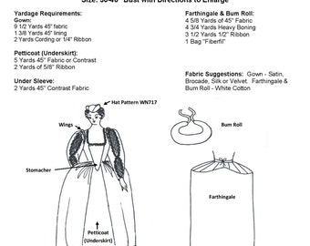 WN114 - Elizabethan Court Gown Sewing Pattern by Wingeo