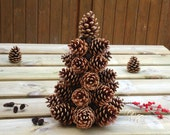 Pine cones Christmas tree, gift idea, woodland Christmas tree, rustic Christmas tree, rustic pine cone tree, alternative Christmas tree