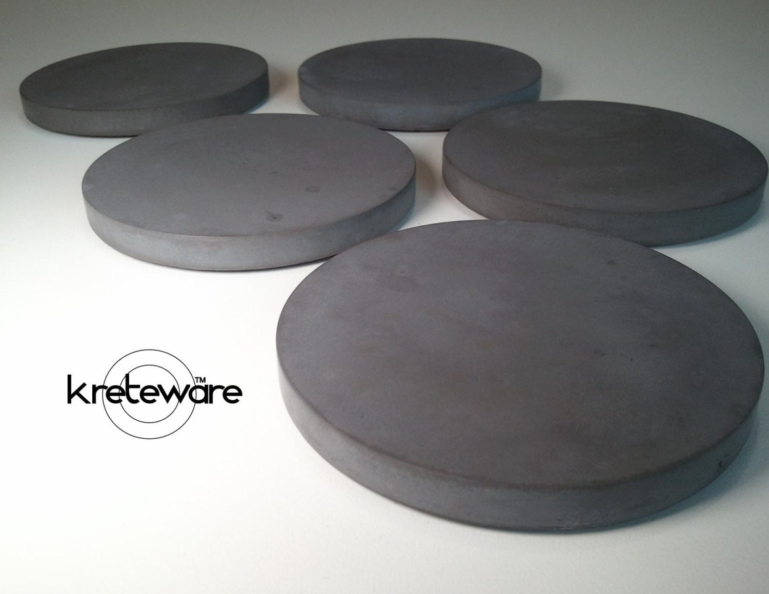 Kreteware concrete coasters slim and smooth drink coasters for How to make concrete coasters