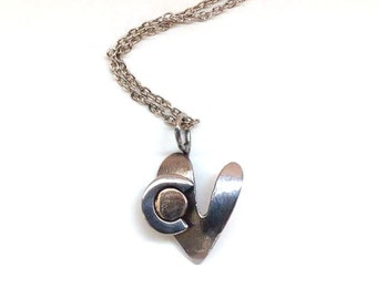 Colorado Heart Pendant Made From Repurposed Stainless Steel