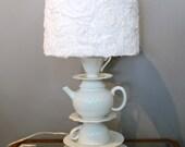 Whimsical Teacup Lamp.