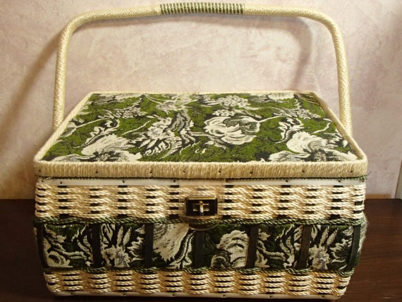 Extra Large Wicker Sewing Basket 13 1 4 X 10 X