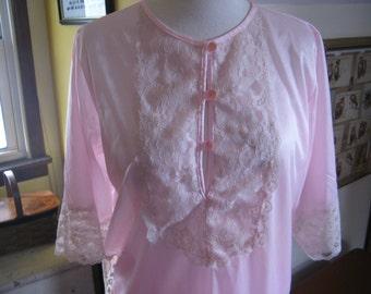60s Pale Pink Pajama Set by Erica Loren New York / M / L