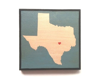 US States Wall Art, Wall Decor, State Paintings on Wood