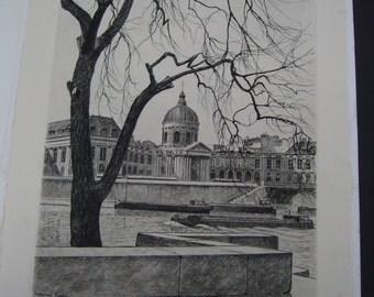 Maxime Juan - 1967. Original drypoint print.