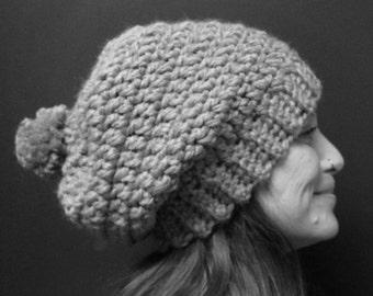 Crochet hat PATTERN, slouch hat, crochet slouch hat