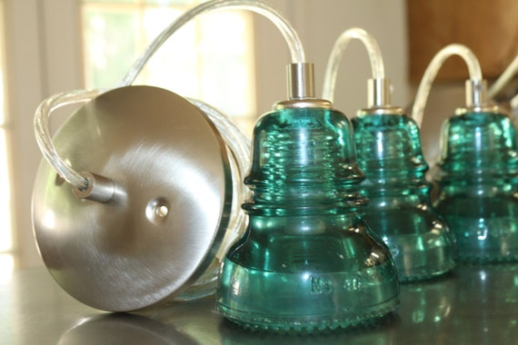 Items Similar To CUSTOM Glass Insulator Pendant Light